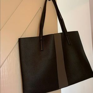 Vince Camuto Black and Grey Leather Tote, NWT